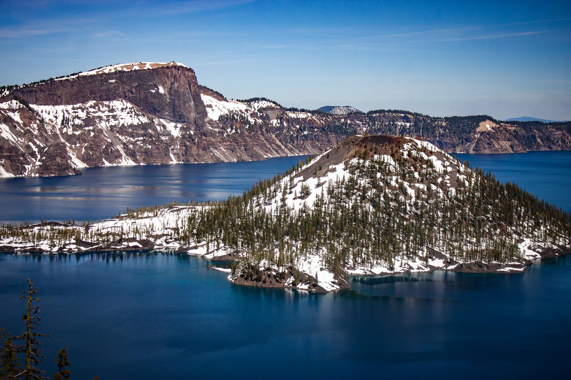 jezioro w kraterze wulkanu, Park narodowy Crater Lake